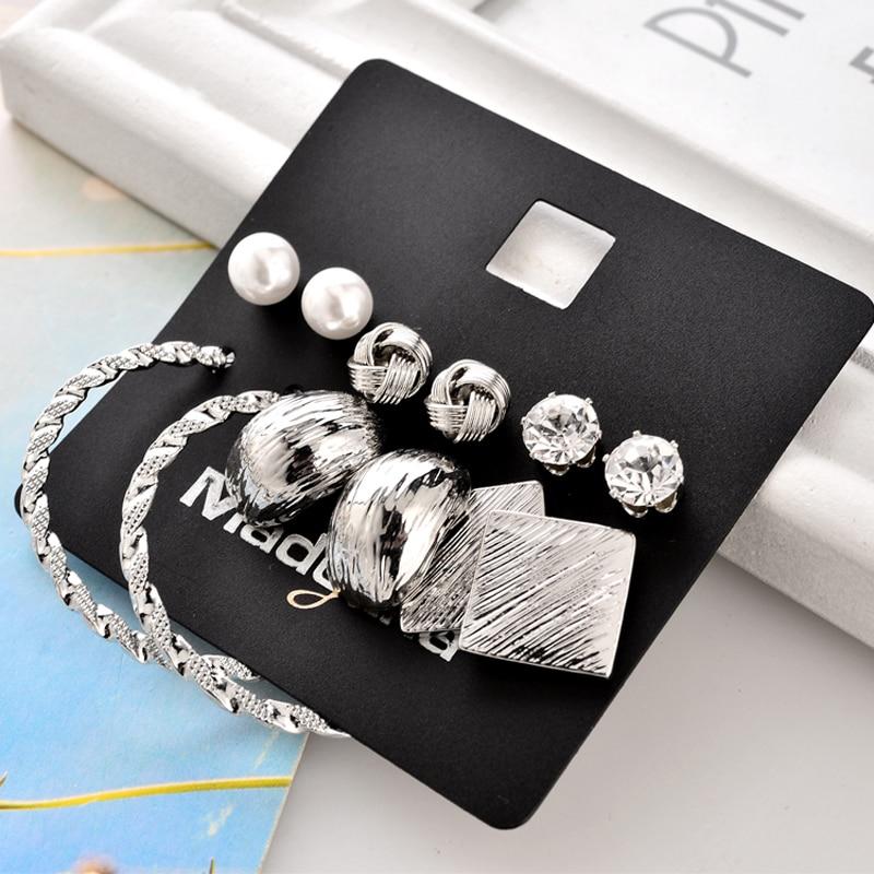 Marte & Joven Neue Mode 6 paar Ohrring Sets Gold Farbe Legierung - Modeschmuck - Foto 6