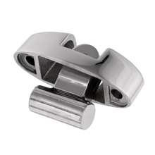 7 x 2.5 x 4.5cm Durable 316 Stainless Steel Bimini Top Fitting Swivel Deck Hinge with Rubber Pad   Fittings/ Hardware