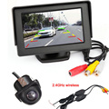 "Wireless Car Rear view Kit 4.3"" TFT LCD Mirror Monitor & 170 Wide degree Reverse backup camera (20mm ) Parking Sensor,Free Ship"