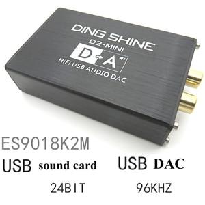 Image 3 - Lusya HIFI USB חיצוני כרטיס קול ES9018K2M DAC מפענח NE5532 + TL072 מגבר שרת תמיכת 24bit 96kHz A2 002