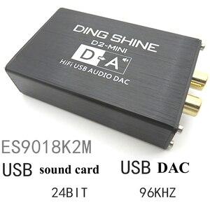 Image 3 - Lusya HIFI USB external sound card ES9018K2M DAC decoder NE5532+TL072 op amps support 24bit 96kHz A2 002