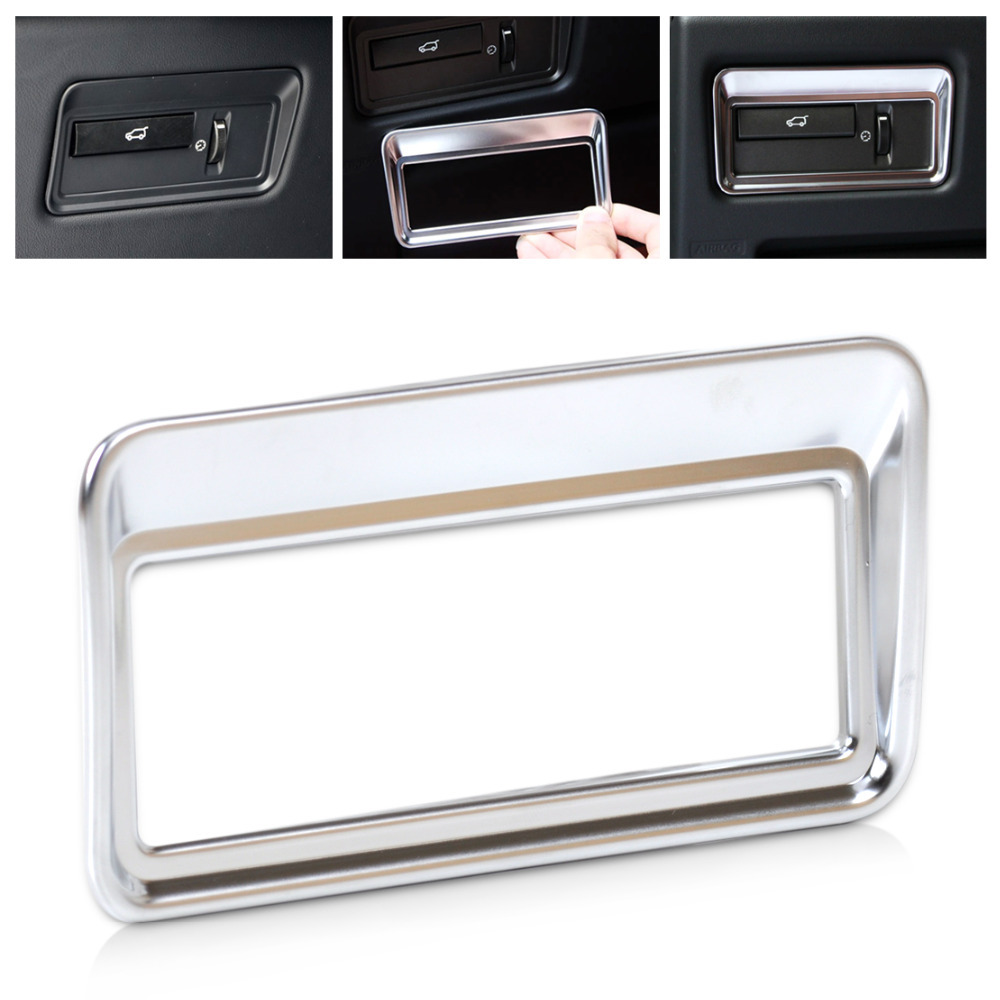 CITALL New Chrome Car Interior Rear Trunk Switch Button Panel Cover Trim Frame For Land Rover Range Rover Sport Evoque wiper blades for land rover range rover evoque 23