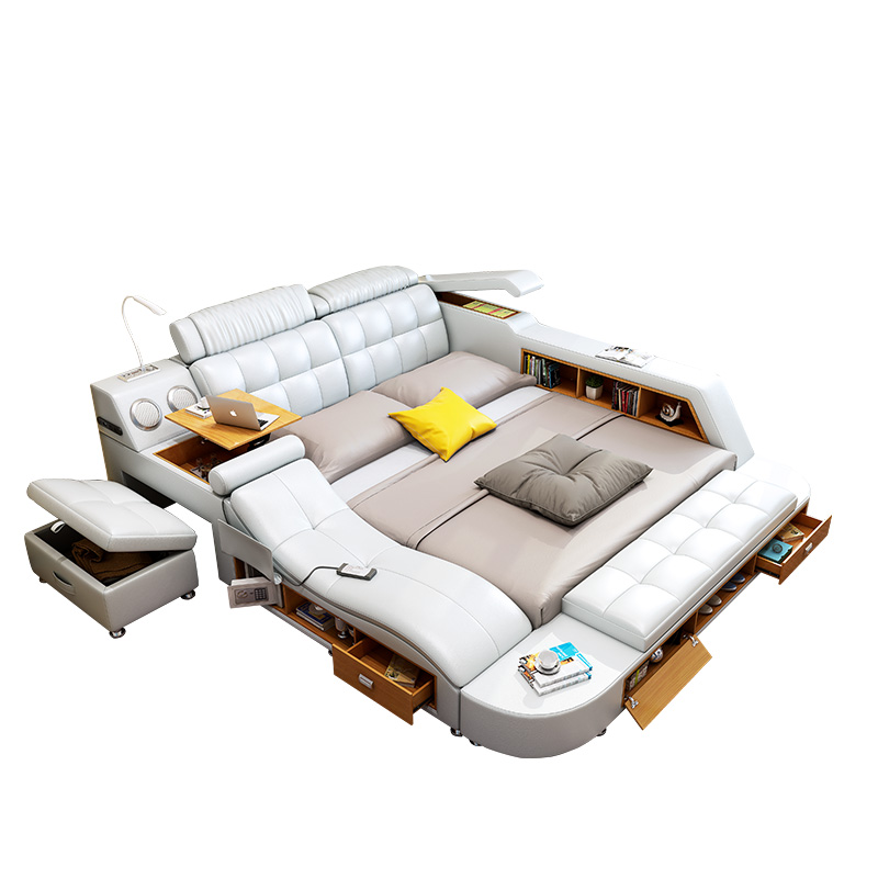 UK bedroom furniture king size storage tatami bed with