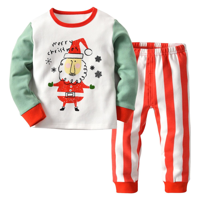 High Quality Baby Boys Girls Christmas Pajamas Kids Long Sleeve Xmas PJS Cotton Pajamas Children Clothing Set 2-14Yrs CA273 2018 children pajamas clothing set boys