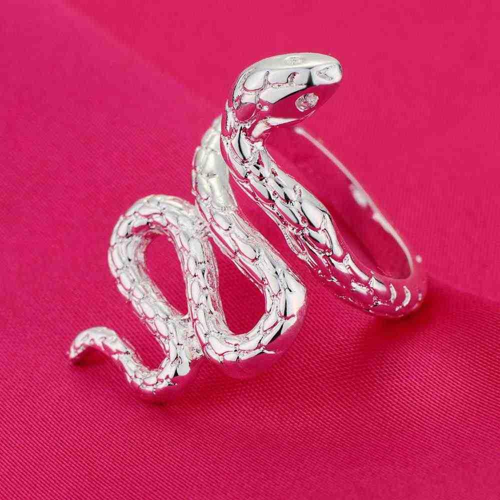 Cool snake สัตว์ปรับขายส่งเงิน 925 แหวนแฟชั่นเครื่องประดับแหวนผู้หญิง/XHLYKHJZ HYDYNNIL