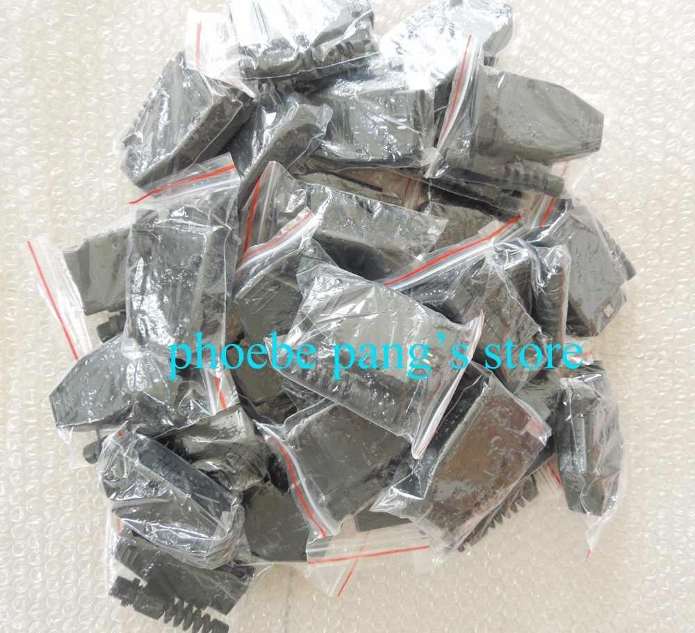Finetrip preço de fábrica! Alta qualidade universal 16 pin 16 pinos obdii obd2 j1962 conector adaptador de tomada macho 1 peça