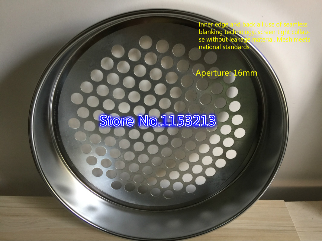 R20cm/30cm/40cm Horticultural soil sieve Galvanized round hole screen Aperture 2mm-25mm, Blueberries/bodh/ beads/sampling sieve r30cm horticultural soil sieve stainless steel round hole screen aperture 5 200mm blueberries bodhisattva beads sampling sieve