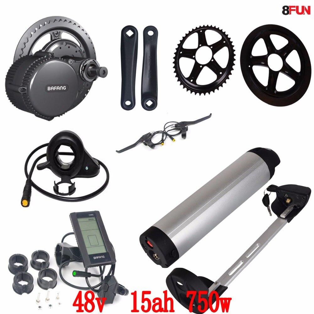 48v 750w 8fun/bafang motor crank kits+48v 15ah water kettle bottle battery C965 LCD BBS-02 New for the controller bafang 750w bafang 8fun motor 750w bafang kit bafang bbs 02b