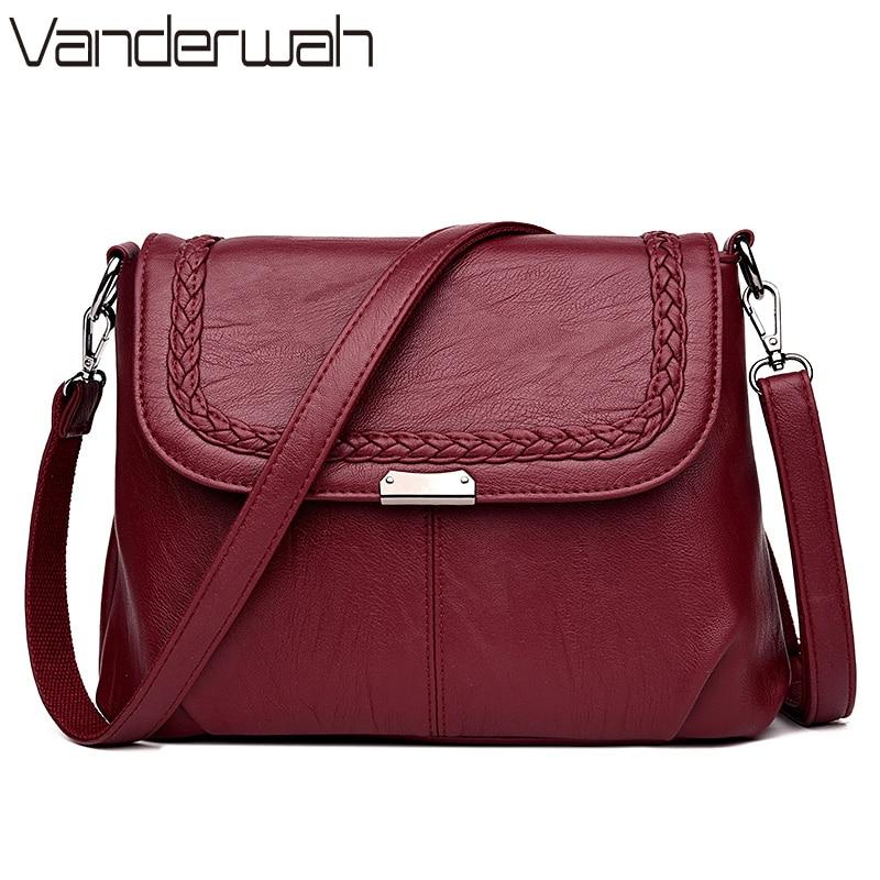VANDERWAH Brand 2017 NEW Leather Luxury Handbags Women Bags Designer Shoulder crossbody Bags Casual Tote Female bag hand Bags цены онлайн