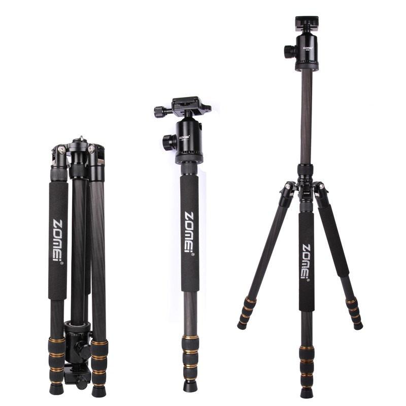 ZOMEI Z688C Professional Carbon Fiber font b Tripod b font Outdoor Stand Holder for Canon Nikon