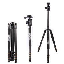 ZOMEI Z688C Professional Carbon Fiber Tripod Outdoor Stand Holder for Canon Nikon Sony Pentax Digital DSLR Camera