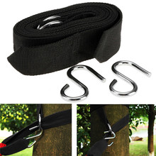 Outdoor Sport Hammock hanging belt hammock strap rope with metal buckle Hook Camping Tool Accessories  QB878830