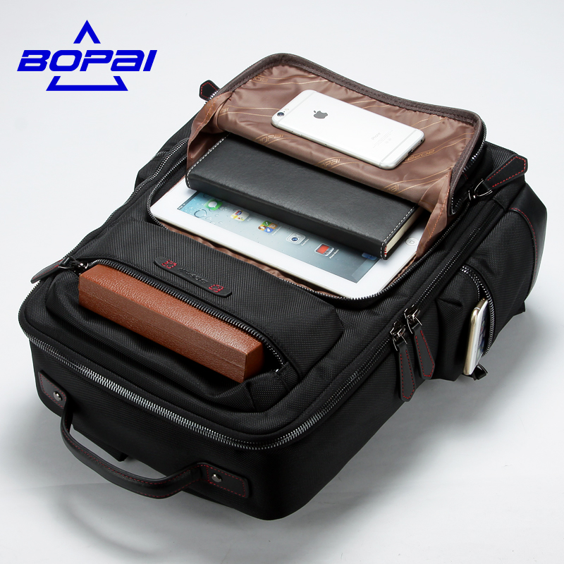 BOPAI Large Capacity 2017 New Fashion Men Luxury Male Bag High Quality Waterproof Laptop Messenger Travel Backpack School Bag dsb dc 20