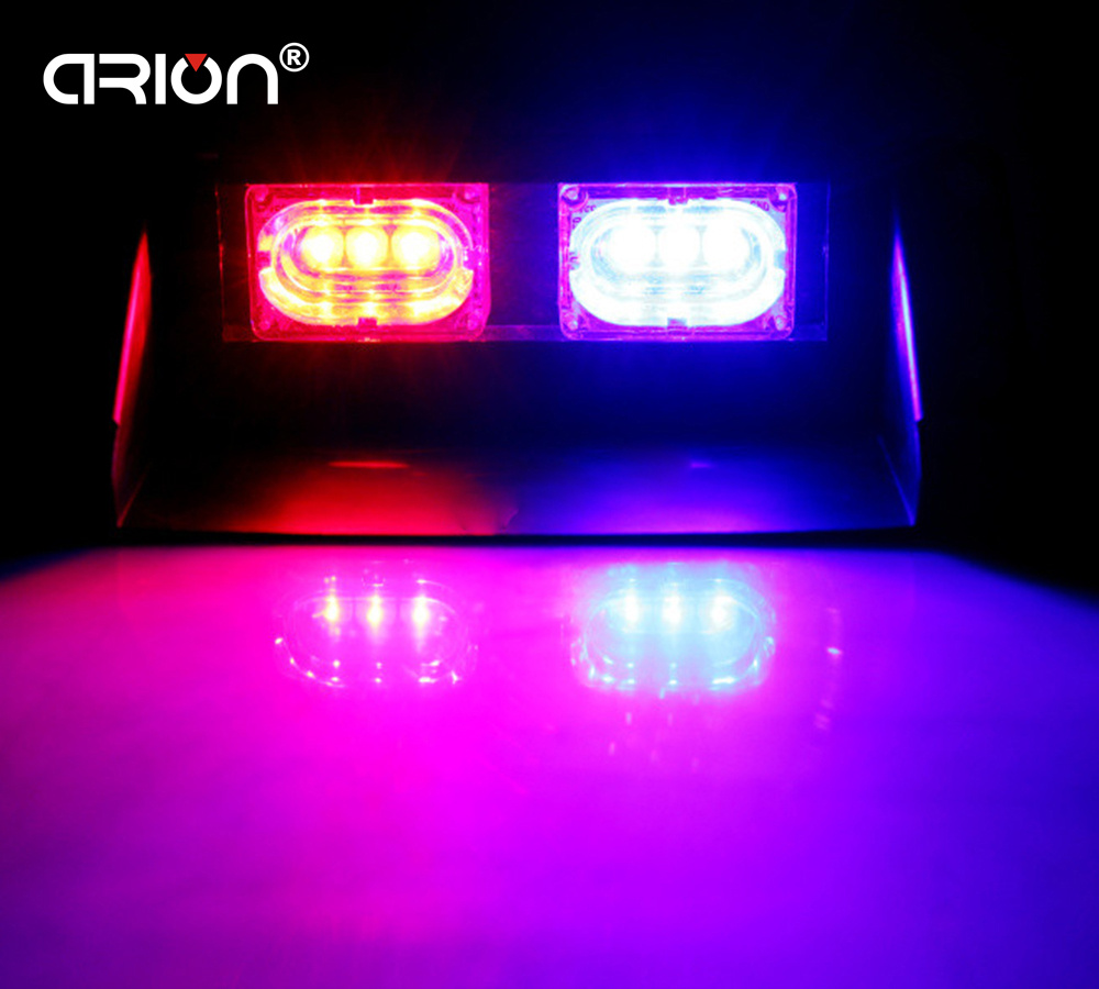 Car Lights Crion Super Bright 6 Led Strobe Warning Light Car Styling 6w Red Blue Fireman Police Beacon Emergency Lamp Free Shippping To Ensure Smooth Transmission