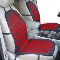 Funda para cojín de asiento de coche con calefacción de 12 V, calentador de calor, cojín para hogar de invierno