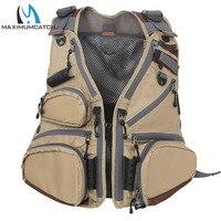 Maximumcatch Fly Fishing Vest Pack Adjustable Mesh Vest Jacket Multifunction Pocket Outdoor