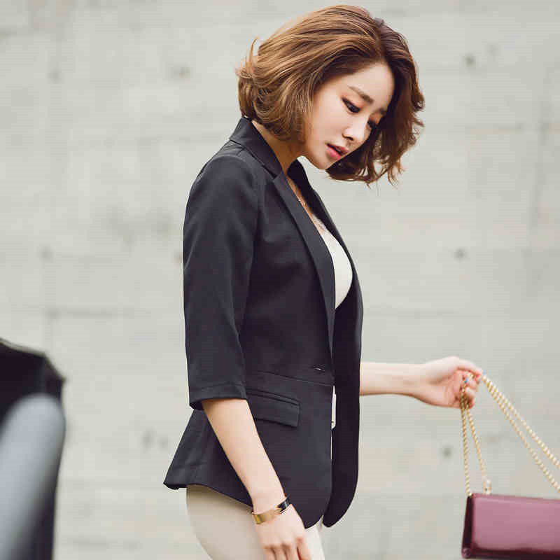 New Female Blazer Outerwear Summer Women Suit Slim Design Blazer Fashion Blazer Solid Color Blazer Women Clothing A3626