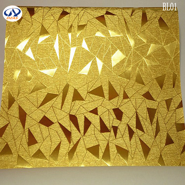 Triangle Irregular Geometric Patterns Gold Foil Reflective Wallpaper Bright Club ZMH In Wallpapers From Home Improvement On