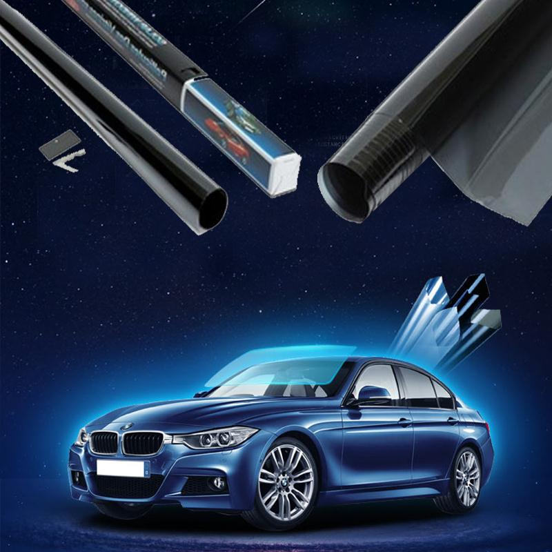 50cmx300cm Dark Black Car Window Tint Film Glass VLT 15% Roll Car Auto House Commercial Solar Protection Summer