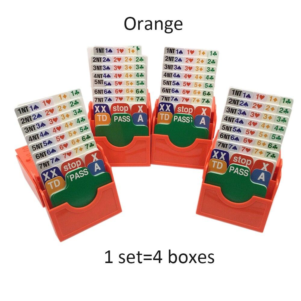 4 SETS / LOT English Bridge Cards Set with Bridge Bidding