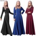 De malha de algodão ABAYA muçulmano roupas vestido longo BIG SIZE novo 2016