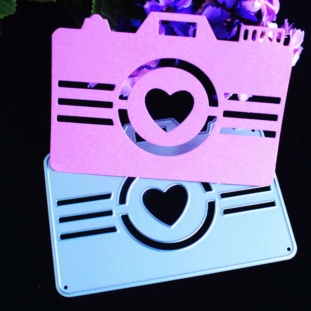 10*7.3cm New scrapbooking Cute love camera shape DIY Metal steel cutting die sweet wedding Book photo album art card Dies Cut