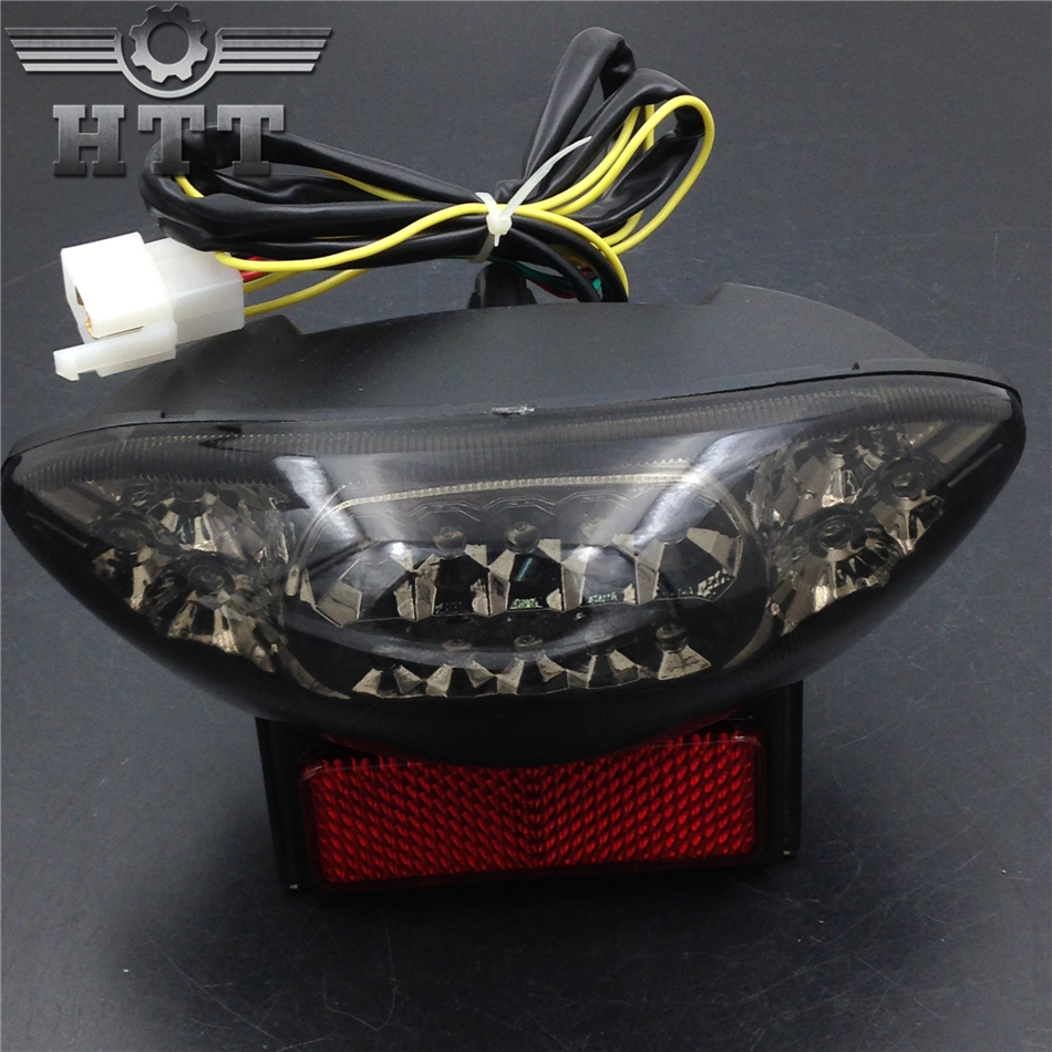 Aftermarket free shipping motorcycle parts LED Tail Light for Suzuki GSX1300R Hayabusa Katana GSX 600 GSX600F 750 SMOKE aftermarket free shipping motor parts for motorcycle 1989 2007 suzuki katana 600 750 billet oil brake fluid reservoir cap chrome