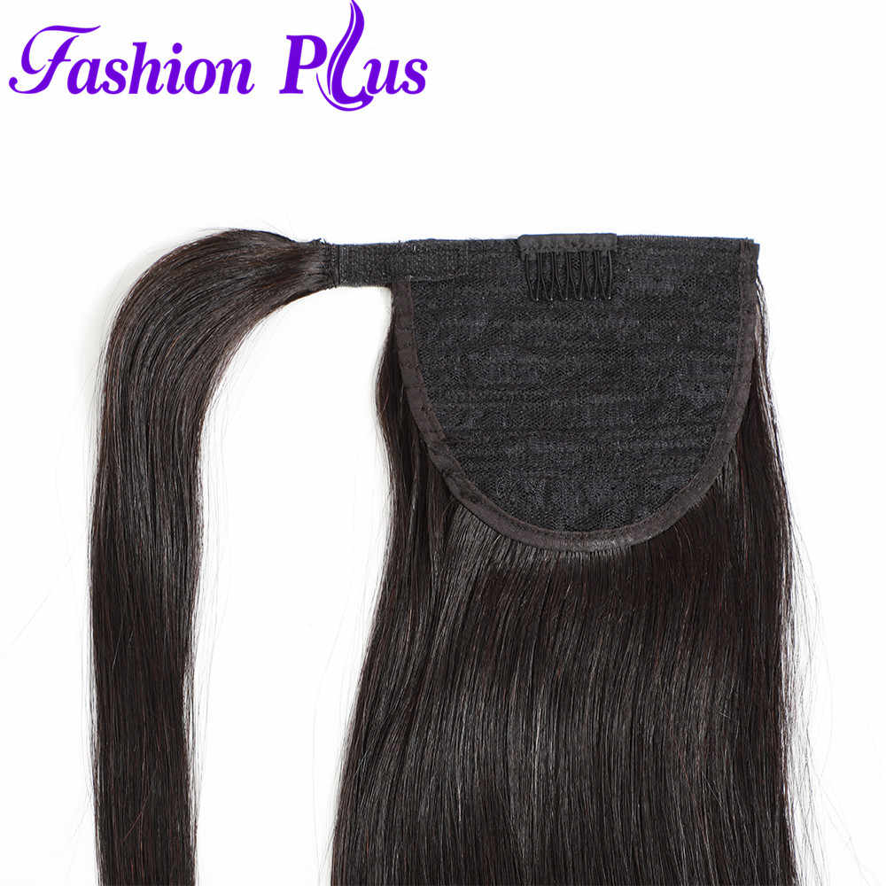 Long Peruvian Ponytail Human Hair Extensions Horsetail Straight Remy Hairpiece Magic Wrap Around Clip In Pony Tail For Women