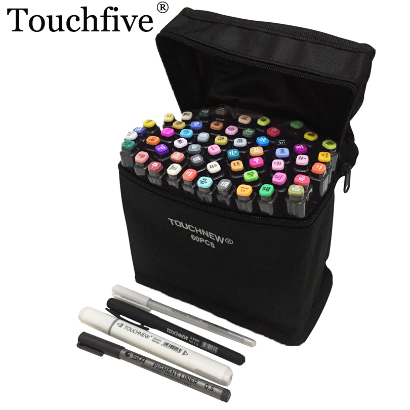 36 48 72 Colors Touchfive Art Markers Sets Oily Marker Pen Double Tip Markers Sketch Drawing for Manga Design Art Supplies 36 colors set 0 4mm fine liner colored marker pens watercolor based art markers for manga anime sketch drawing pen art supplies