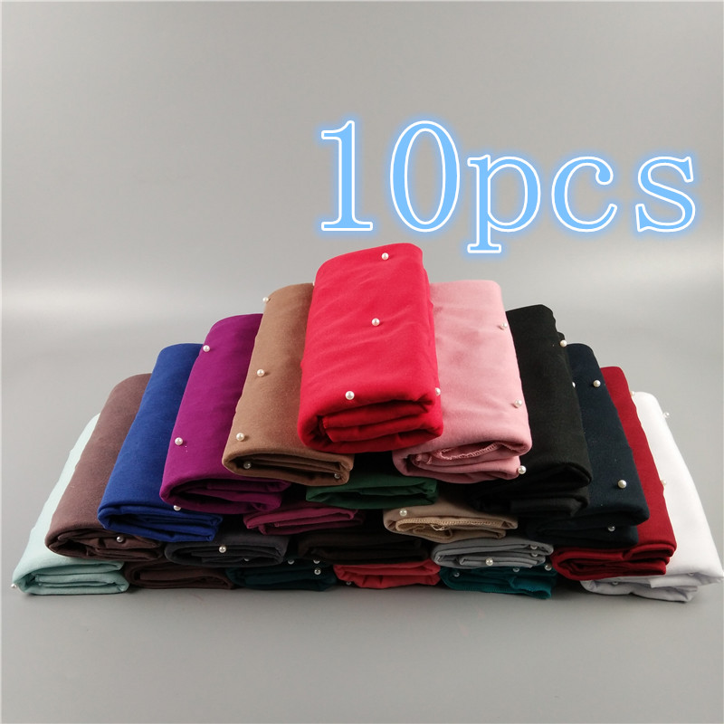 NEW DESIGN Nice Popular Soft Elastic Pearl Jersey Shawls Muslim K9 Plain Hijabs Head Wraps Women Scarf Wholesaler 1 Pcs/lot