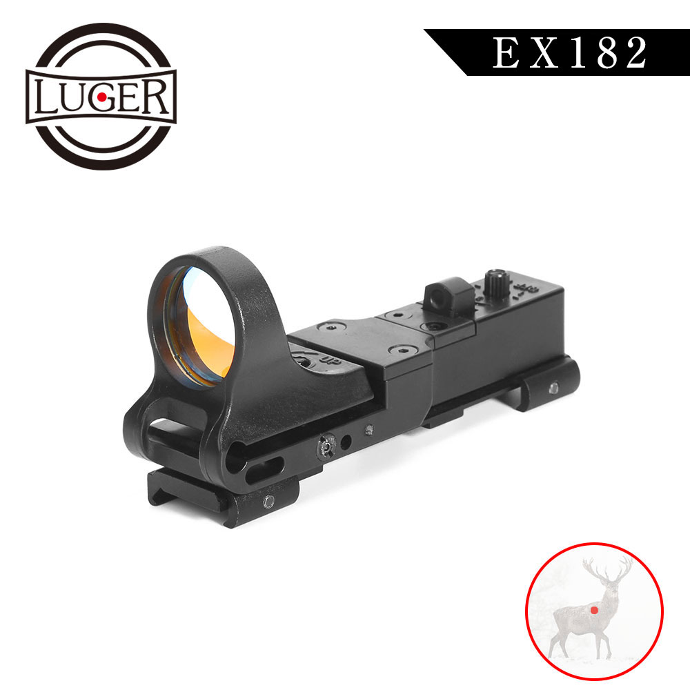 LUGER Tactical Red Dot Riflescope EX 182 Element SeeMore Railway Reflex C-MORE Optics Sight Hunting Scope For Rifle Air Gun