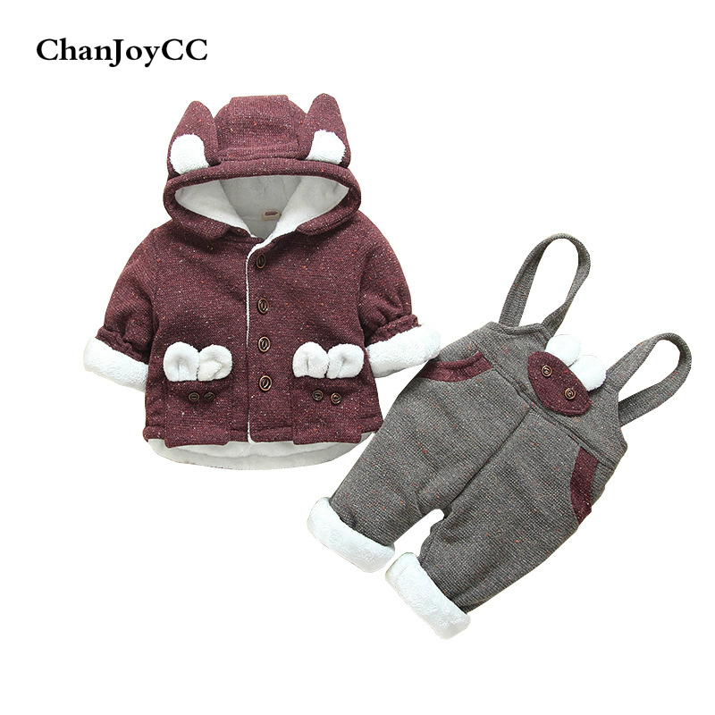 Winter Baby Thickening Warm Set New Fashion Boys Girls Lovely Comfortable Suit Sweater+Pant Two-piece Casual Kids Sport Suit baby children s clothing boys and girls set sweater autumn winter warm new fashion gold velvet leisure sports two piece a8888