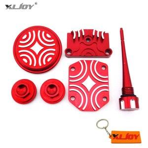 XLJOY красный комплект клапанной крышки для двигателя 50cc 70cc 90cc 110cc 125cc китайский питательный мотор для мотоцикла ATV Quad