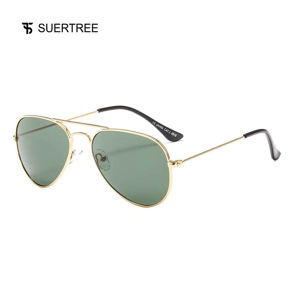 75d564efdcad SUERTREE Fashion Pilot Sunglasses Women Men Metal shades Frame Shades  Unisex Vintage Eyewear UV400 Gafas de