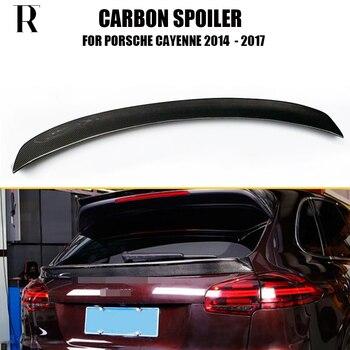 Carbon Fiber Rear Middel Trunk Wing Spoiler voor Porsche Cayenne 958 SUV 4 Deur GTS S Sport 2014-2017