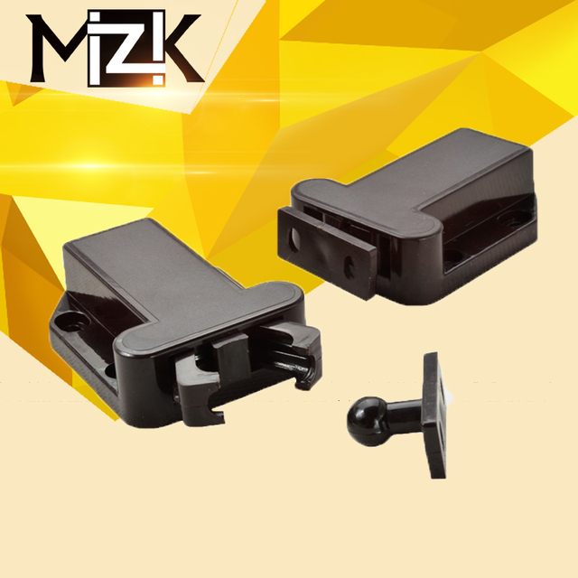 MZK 4Pcs Push To Open Drawer Cabinet Catc H Touch Latch Release Kitchen  Cupboard Door ABS