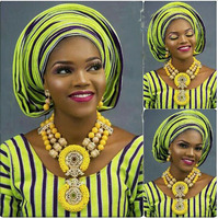 African Nigerian Wedding Jewelry Set Exclusive Yellow Dubai Women Costume Jewellery Set for Brides Gold Free Shipping ABH579