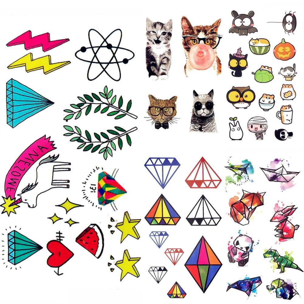 Bonito Dos Desenhos Animados Unicornio Tatuagem Temporaria Cao