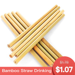 1pc Straw bamboo cutlery dinnerware disposable tableware
