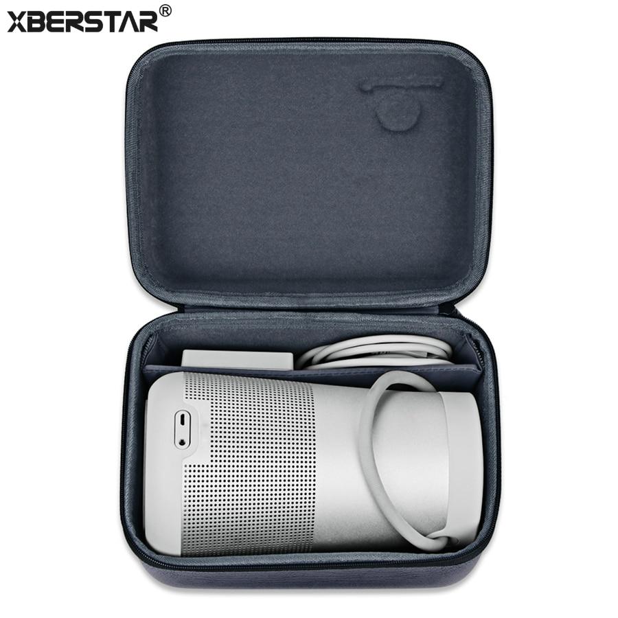 Sacchetto Della Cassa Per Bose Soundlink Revolve XBERSTAR +/Revolve Protector Duro PU + Velluto Carry Viaggi Scatola di Immagazzinaggio