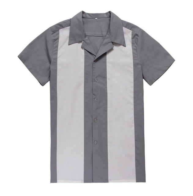 Candow mirar americano vintage diseños casuales en línea compras hombres con estilo nuevo llegado 1950 s 60 s rockabilly rocknroll camisas de trabajo