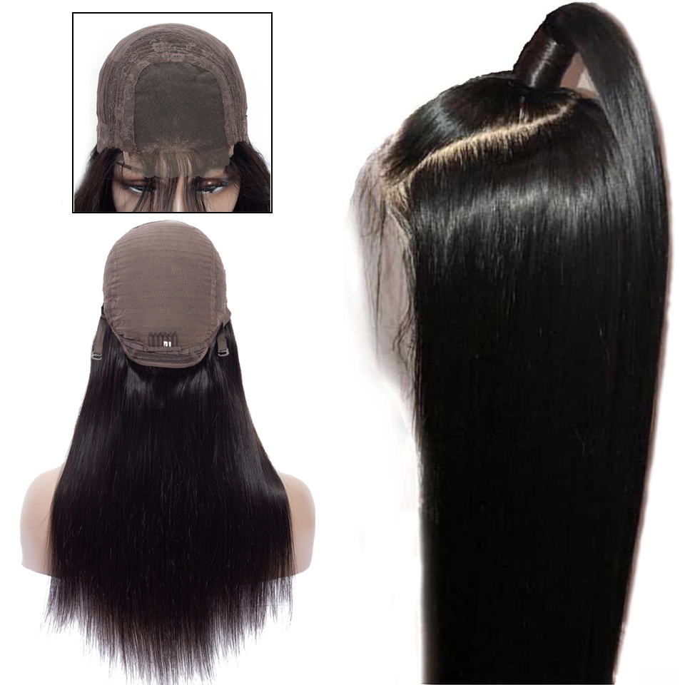 4X4 Lace Front Human Hair Wigs for Women Brazilian Remy Straight Hair Human Hair Wigs With