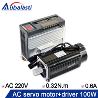 servo motor 100W ac servo moto40ST M00330+ac servo motor AC220V AASD 10A use for cnc engraver and cutting machine