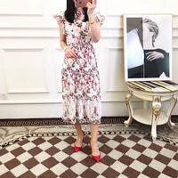 Высокое качество, новые модные женские туфли 2019 весеннее платье Элитный бренд Европейский дизайн вечерние стильное платье WD031013