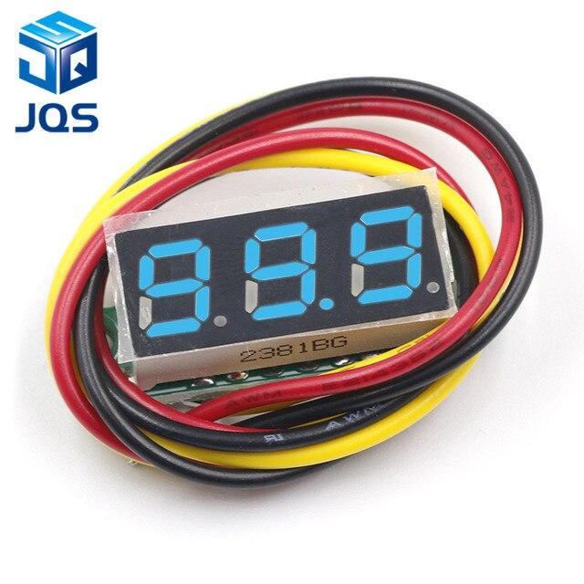 DC 0V-100V 0.28 inch LED Digital Voltmeter Voltage Meter Volt Detector Monitor Tester Panel Car 12V 24V Red Green Blue Yellow 3