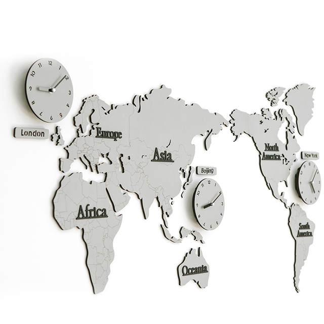Online Shop 138 63 0 5cm White Gray Color World Map Large Decorative
