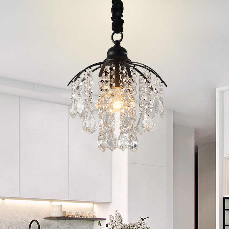 American Crystal Chandelier Corridor Porch Cloakroom Creative Balcony Small Chandelier Restaurant Study Bedroom E27