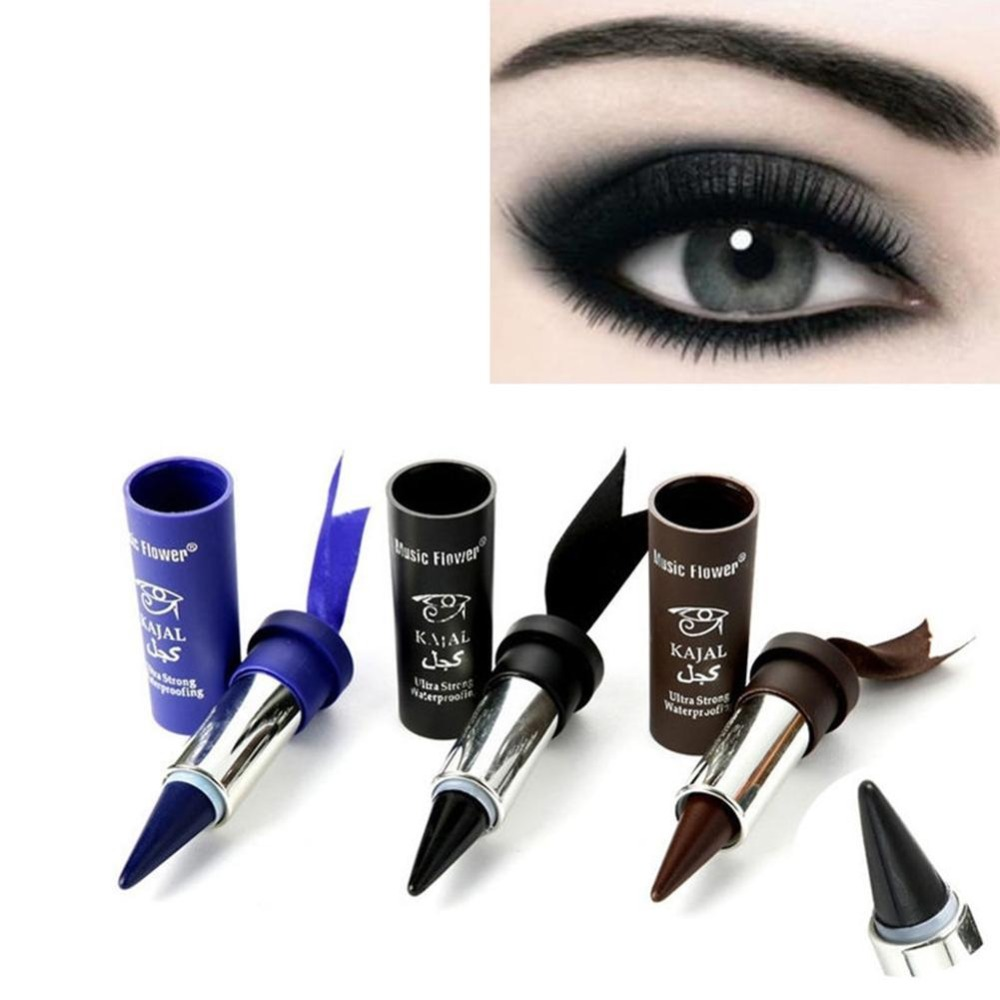 1 Pc Women Smoky Eyes Pencil Thicker Thick Solid Bold Black Eyes Liner Pencil Gel Eyeliner Wholesale Available