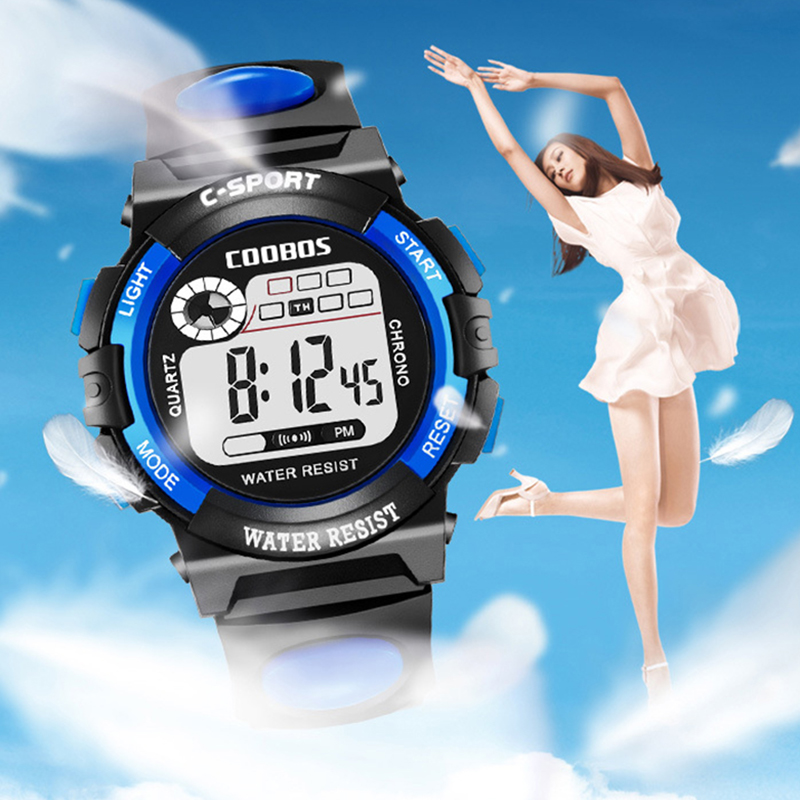 New Women Watches Sports Digital Watch Ladies Dresses Rubber LED Display Clock Fashion Waterproof Wristwatches Montre Femme 2019