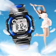 лучшая цена New Women Watches Sports Digital Watch Ladies Dresses Rubber LED Display Clock Fashion Waterproof Wristwatches montre femme 2019